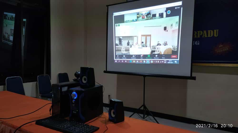 Rapat Koordinasi PPKM Mikro Secara Virtual Kecamatan Mojogedang